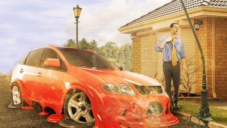 автомобиль в жару