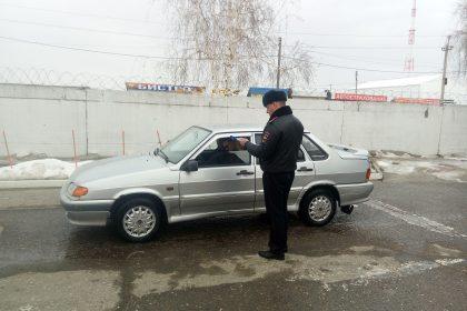 остановил инспектор ГИБДД