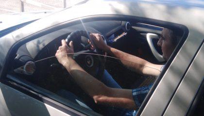 посадка в автомобиль